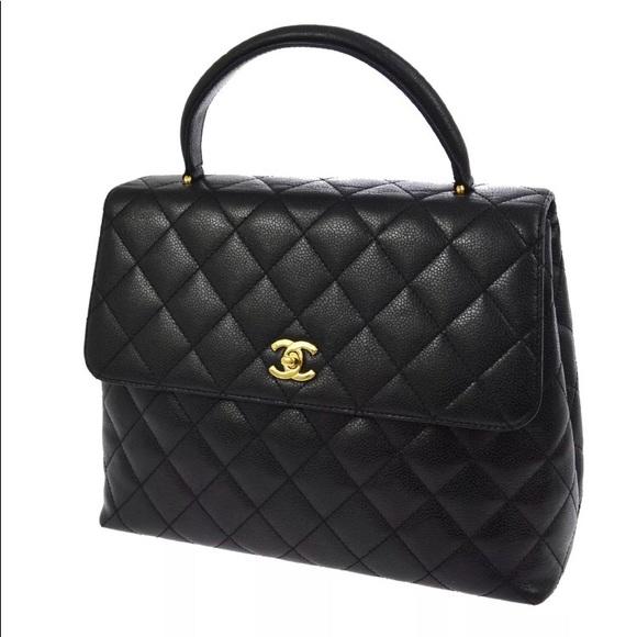 56e5362077e5 CHANEL Bags | Auth Black Caviar Ghw Kelly Hand Bag | Poshmark
